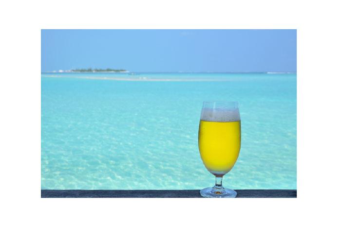 南国とイメージと南国産ビール