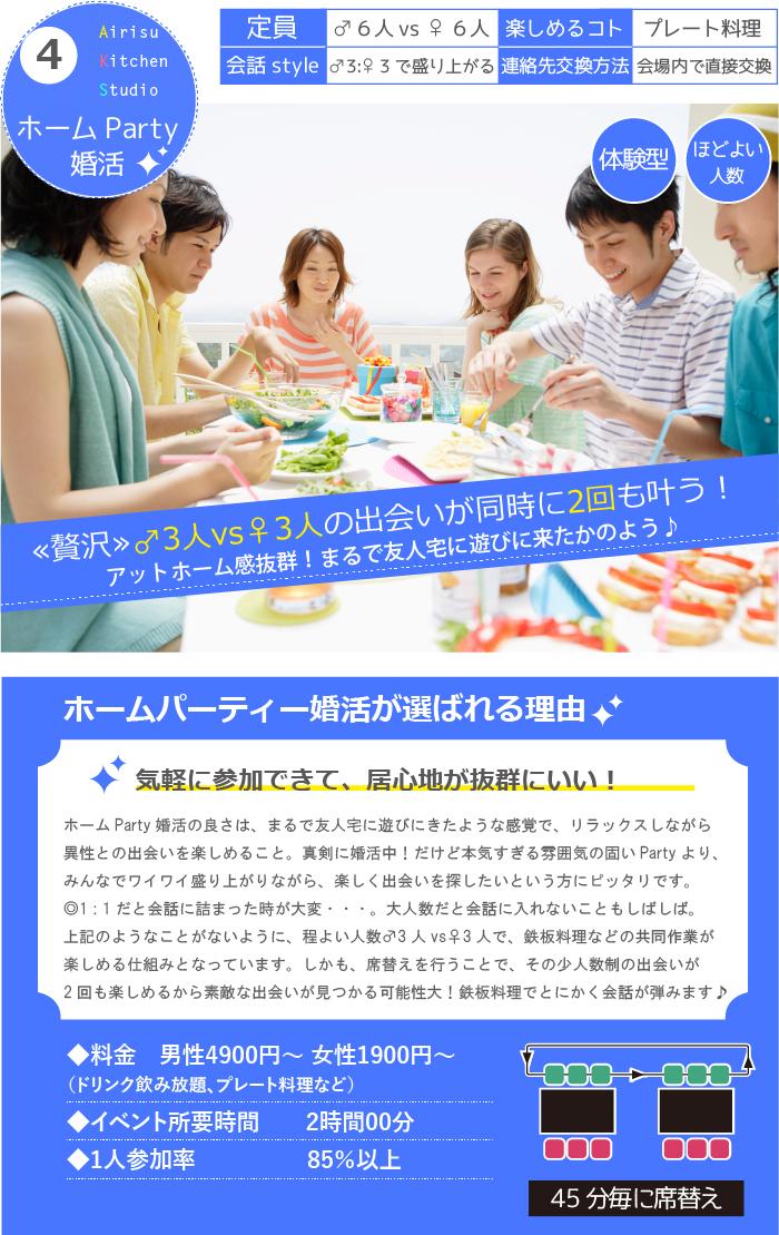 ホームパーティー婚活詳細